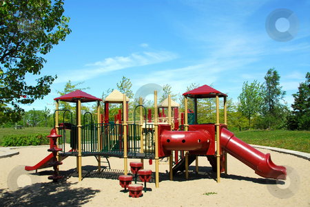 Playground stock photo, Playground in a city park by Elena Elisseeva