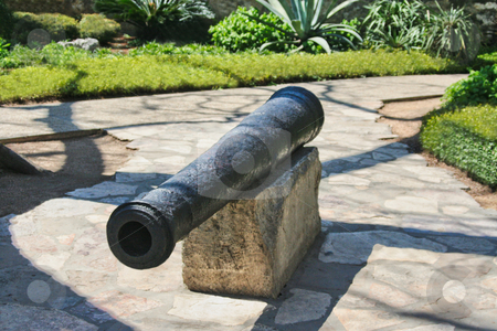 Cannon stock photo, A single cannon at the Alamo by Kevin Tietz