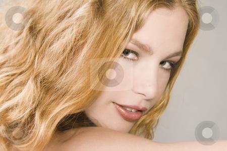 Landscape portrait of a beautiful blond