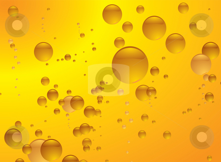 Amber bubble stock photo, Subtle amber bubble background illustrated with copy space by Michael Travers