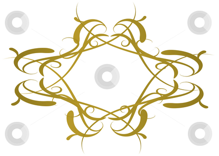 Gothic logo stock photo, Golden gothic logo with room to add your own text by Michael Travers