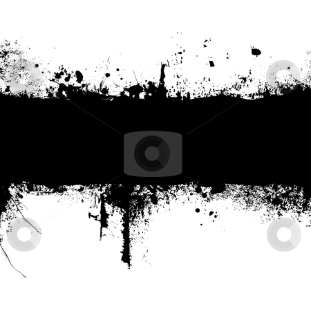 Gothic banner stock photo, Inky black banner with room to add your own text by Michael Travers
