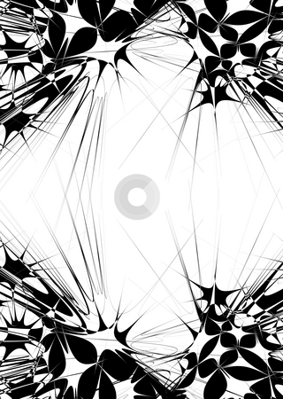 Black and white explosion stock photo, Illustrated border with a difference for the modern world by Michael Travers