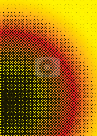 Halftone warm stock photo, Halftone inspired abstract background in red yellow and black by Michael Travers