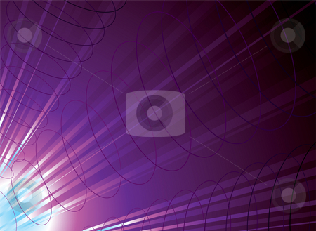 Time travel purple stock photo, Time travel concept in blues and purple traveling down a tube by Michael Travers