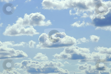 Cloudy sky stock photo, Pale cloudy sky background by Elena Elisseeva