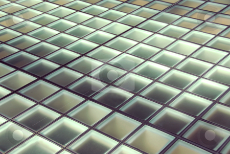 Background stock photo, Background of glass squares floor lit from below by Elena Elisseeva