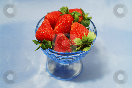 Strawberries in a bowl stock photo, Fresh strawberries in a bowl by Elena Elisseeva