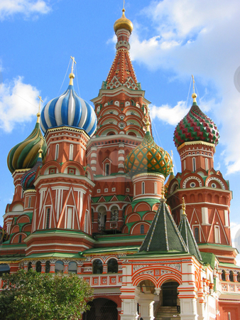Travel to Moscow, Russia stock photo, St. Basil's Cathedral on the Red Square in Moscow, Russia by Elena Elisseeva