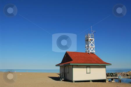 Beach stock photo, Lifegurad's house on a beach by Elena Elisseeva