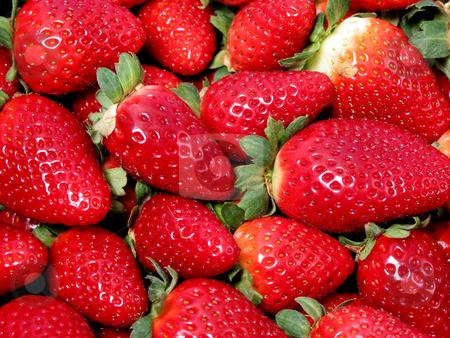 Strawberries texture stock photo, Bright red fresh strawberries by Elena Elisseeva