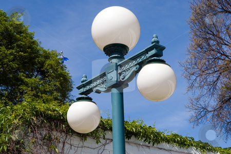 Outdoor Lamp Pole stock photo, An old fashioned light pole shot outside by Richard Nelson