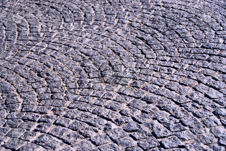 Cobblestone  stock photo, Background of old cobble stone granite pavement by Elena Elisseeva