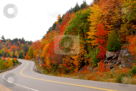 Fall highway stock photo, Fall highway in northern Ontario, Canada by Elena Elisseeva