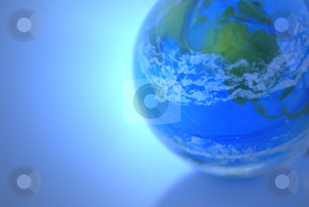 Globe stock photo, Globe on blue background as globalization concept by Elena Elisseeva