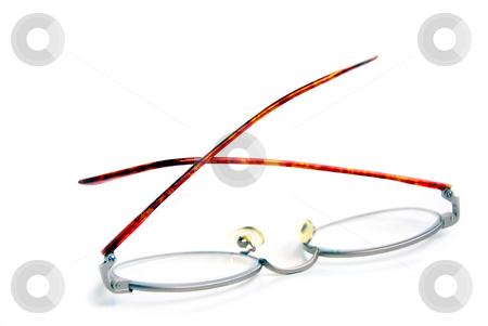 Eyeglasses stock photo, Eyeglasses on white background by Elena Elisseeva