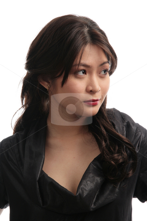 Lady with a mean look stock photo, Pretty asian lady with a mean look by Jonas Marcos San Luis