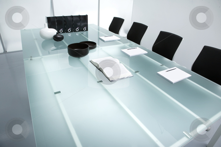 Meeting table stock photo,  by Luca Mosconi