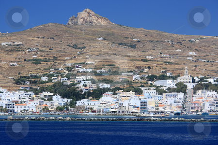 Tinos Island Town stock photo, A view of the capital of Tinos island, Greece by Georgios Alexandris