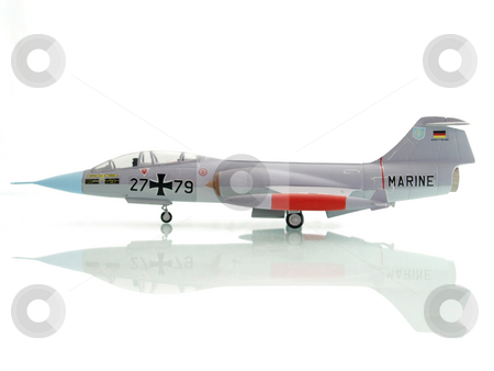 Toy airplane stock photo, Toy airplane isolated on white background profile by Adrian Costea