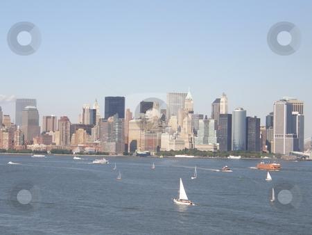 New York City Skyline stock photo, New York City Skyline (USA) by Ritu Jethani