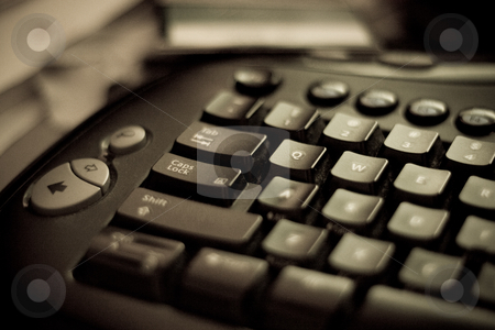 Computer Keyboard closeup stock photo, Closeup of a computer keyboard by Jose Wilson Araujo