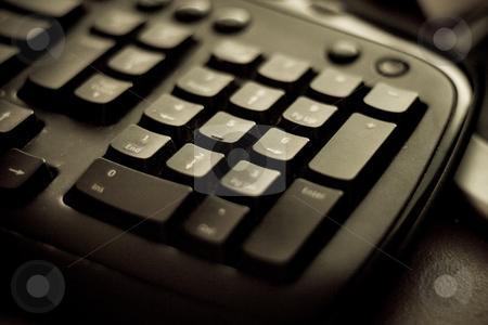 Keyboard closeup stock photo, Closeup of a computer keyboard by Jose Wilson Araujo