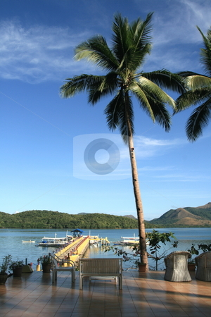 Beach resort stock photo, Scenic view  of the horizon from an island resort by Jonas Marcos San Luis
