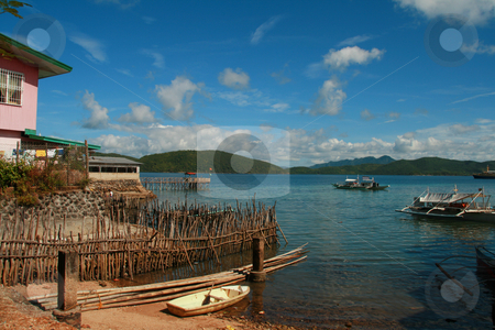 Coastal town stock photo, Typical life in a coastal town by Jonas Marcos San Luis