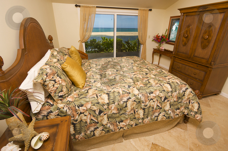 Beachfront Bedroom with a View. stock photo, Beachfront Bedroom by Andy Dean