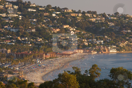 Crowded Day At The Beach stock photo, Crowded Day At The Beach in La Jolla, California. by Andy Dean