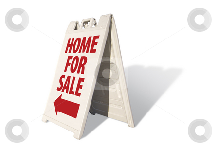 Home For Sale Tent Sign stock photo, Home For Sale Tent Sign on a White Background. by Andy Dean