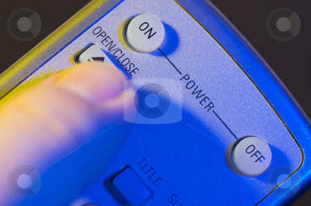 Abstract Remote stock photo, Abstract Remote with Finger Heading for the On button. by Andy Dean