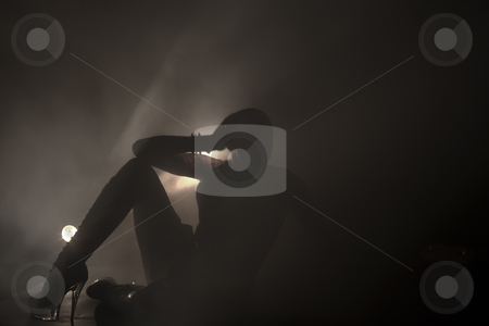 Silhouette created by light painting