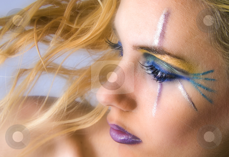 Beauty girl with make up stock photo, A model portrait in the studio by Frenk and Danielle Kaufmann
