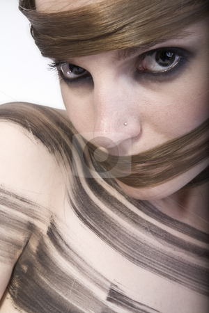 Creative Hairwear stock photo, Studioportrait of a long haired girl by Frenk and Danielle Kaufmann