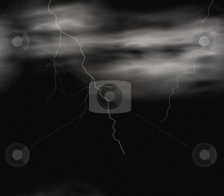 Stormy background stock photo, Background with lightning flashes by Michelle Bergkamp