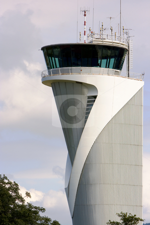 Tower  stock photo, Air traffic control tower in the airport of bilbao, spain by Ivan Montero