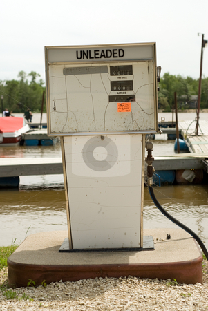 Marine Gas Pump stock photo, A gas pump for filling boats, located at a marina by Richard Nelson