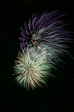 Fireworks 1 stock photo, Bright colorful fireworks isolated against a black sky by Jonas Marcos San Luis