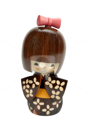 Kokeshi doll stock photo, Handmade, wooden, kokeshi doll made in japan by Claudia Van Dijk