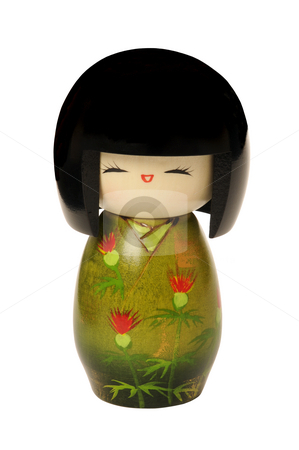 Kokeshi doll stock photo, Wooden, kokeshi doll made in japan, touristic Souvenir by Claudia Van Dijk