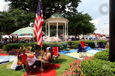 Fourth of july stock photo, Fourth of july celebration at Marietta Square Marietta Ga by Jack Schiffer