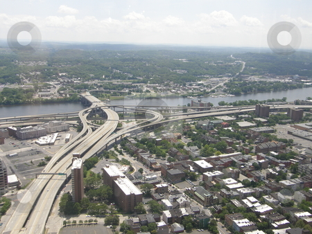 Albany, New York State stock photo, Aerial View of Albany, New York State by Ritu Jethani