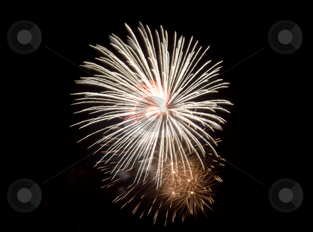 Fireworks stock photo, Fireworks being set off against a dark sky by Richard Nelson