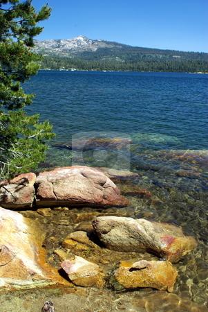 Mountain Lake stock photo, Clear blue Sierra lake in summertime by Lynn Bendickson