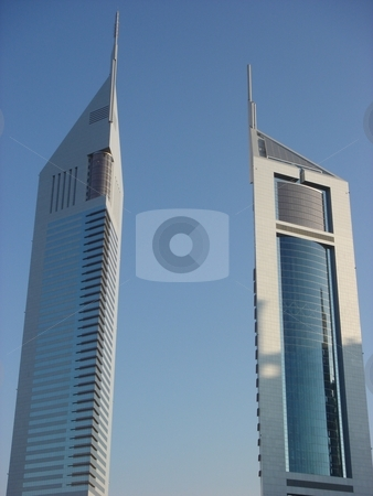 Emirates Towers stock photo, Emirates Towers in Dubai, United Arab Emirates by Ritu Jethani