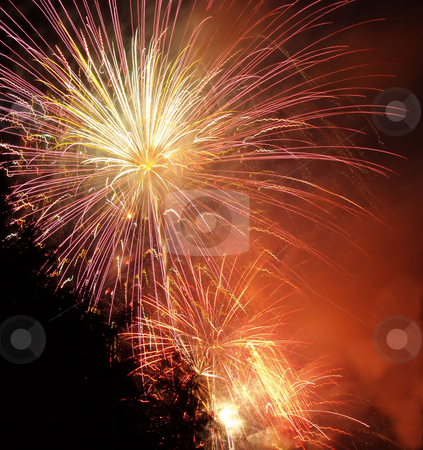 Fireworks stock photo, Beautiful night time fireworks display on the 4th of July by Michelle Bergkamp