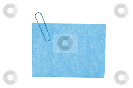 Isolated blank postit paper on white background