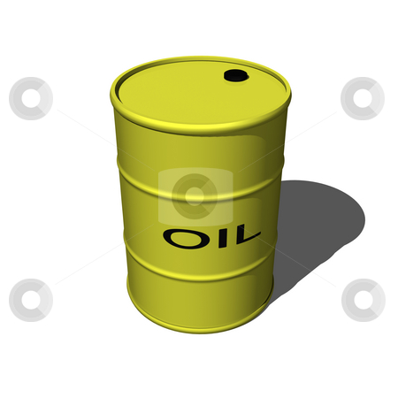 3D oil drum stock photo, 3D oil drum on a white background by John Teeter